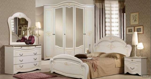 Спальный гарнитур 5 дв «Лилия» белый