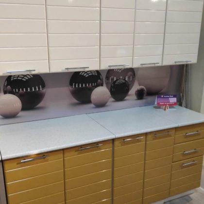 Кухонный гарнитур «Корица Горчица глянец» Любой размер